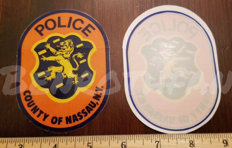 NASSAU COUNTY NY POLICE INSIDE WINDOW DECAL OFFICIAL STICKER LONG ISLAND