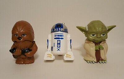 3 Star Wars Figures 2013 Flashlights: Chewbacca Yoda R2-D2 BATTERIES INCLUDED