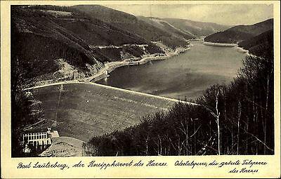 Bad Lauterberg 1935 Blick auf die Odertalsperre Staumauer mit guter Frankatur