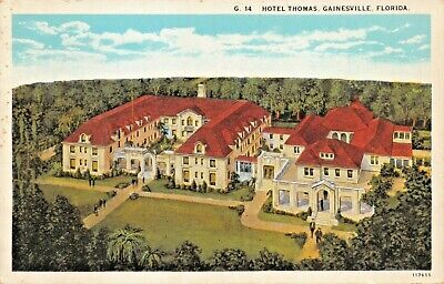 Used, GAINESVILLE FLORIDA~HOTEL THOMAS-1920s ELEVATED VIEW POSTCARD for sale  Shipping to Canada