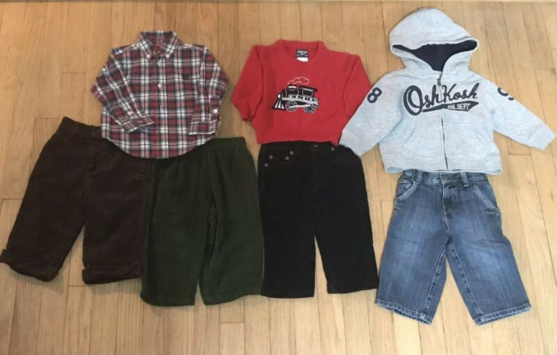 7 Piece Lot Of Infant Boys Size 12 Month Fall/winter Clothes