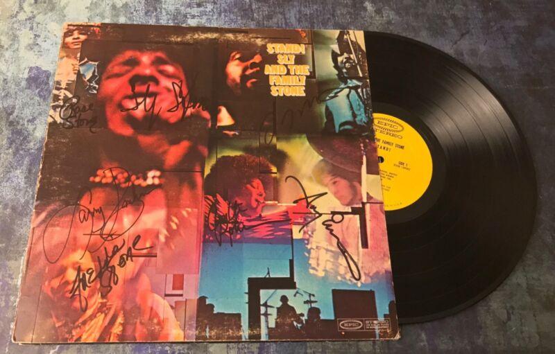 GFA Rare Band x7 * SLY AND THE FAMILY STONE * Signed Vinyl Record Album AD2 COA