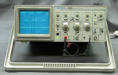 Tektronix 2205 2 Channel 20mhz Analog Scope Refurb Tested Good Vgc