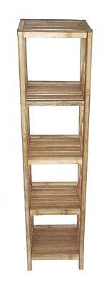 Bamboo Tiki 5-Tier Rack Patio Deck Storage Indoor or Outdoor