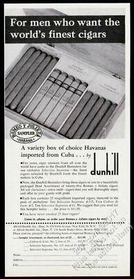 1953 Romeo Y Julieta Cuban cigar Havana Cuba box photo Dunhill vintage print ad ()
