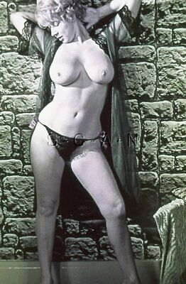 Vintage Nude 50s-60s 35mm Slide / Negative- Super Endowed Blond Lingerie Panties