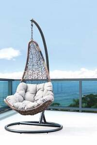 Hand Woven Ratten Swinging Egg Chairs for sale Campbellfield Hume Area Preview