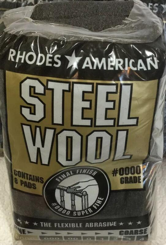 Homax Rhodes American #0000 Super Fine Final Finish Steel Wool 8 Pads