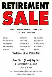 RETIREMENT SALE !!!!!!!!!  Machinery, furniture, office items etc Clontarf Redcliffe Area Preview