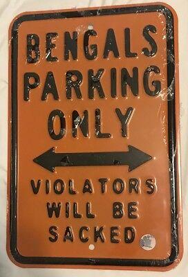 engal No Parking Sign - Man Cave Dorm Room - FREE Shipping! (Cincinnati Bengal)