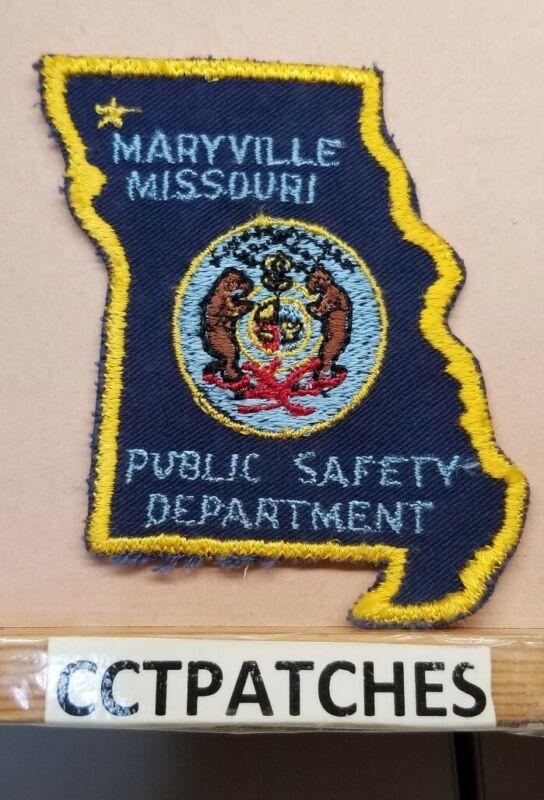 VINTAGE MARYVILLE, MISSOURI POLICE SHOULDER PATCH MO