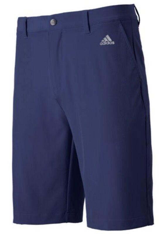 Mens ADIDAS Golf shorts NEW Navy Blue 3 stripe Embroidered  EC4317