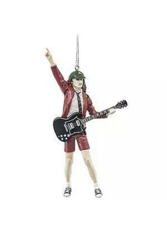 AC/DC ANGUS YOUNG CHRISTMAS ORNAMENT NEW WITH TAG