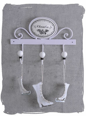 hook bar white coat hooks shabby chic towel holder