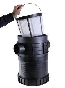 Intewa PLURAFIT Filter mit Filterkorb, Erdeinbau, Regenwasserfilter, Korbfilter