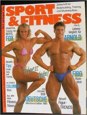 Sport & Fitness magazine with poster bodybuilding