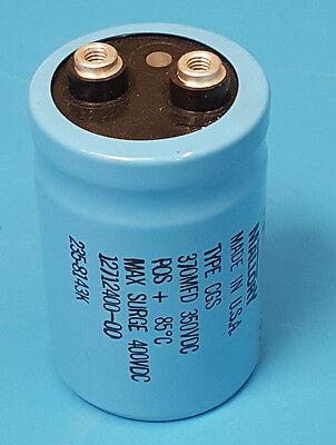 Capacitor Aluminum Screw Terminal 370uf 370mfd 350 Vdc Mallory Usa