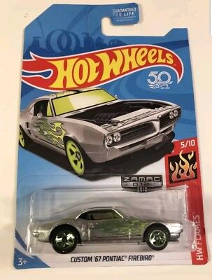Hot Wheels 2018 Flames Series #5 Custom '67 Pontiac FireBird - ZAMAC