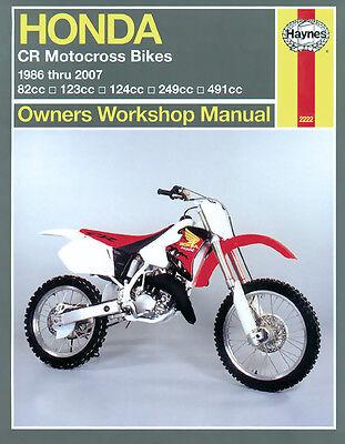 Honda CR80R CR125 CR125R CR250 CR250R CR500 CR500R 86-07 Haynes Manual 2222 NEW