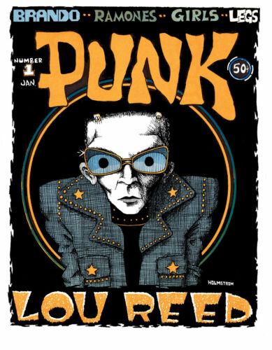 PUNK Magazine #1 SIGNED REPRINT by John Holmstrom 1976 Ramones, Lou Reed, Brando