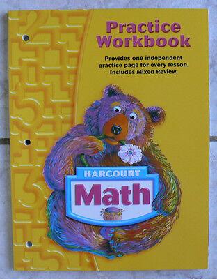 Harcourt Math  Gr 1 1St Practice Workbook New 2002