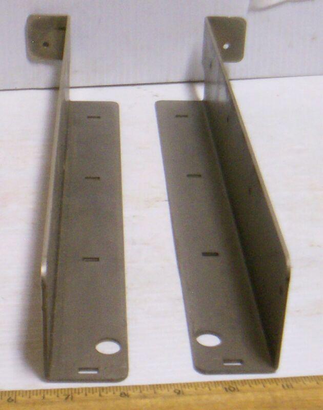 Set of 2 - Shelf Support Mounting Brackets (NOS)