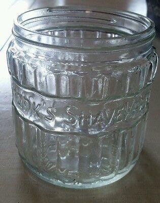 VINTAGE KRANK'S SHAVEKREEM GLASS JAR BARBER BARERSHOP SHAVING