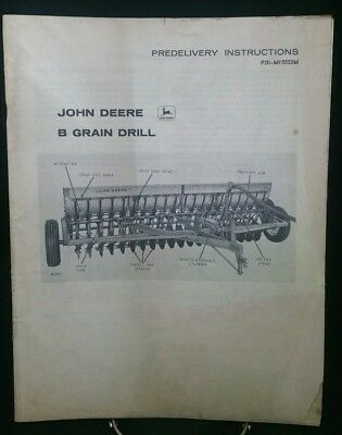 John Deere B Grain Drill Predelivery Instructions Pdi-m15553m