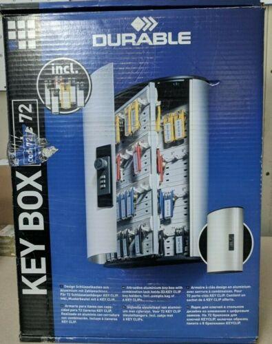 DURABLE KEY BOX - Key cabinet - 72 hooks - aluminum - silver
