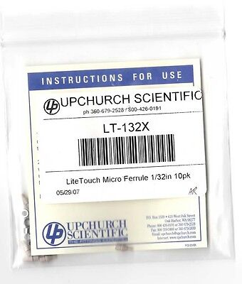 Upchurch Idex Lt-132x Peek Litetouch Ferrule With Ss Lock Ring For 132 0.79mm