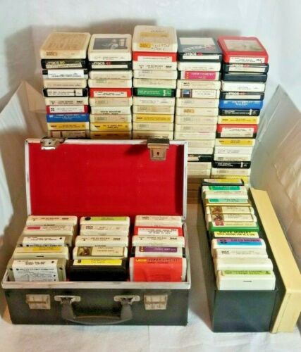 Lot of over 100 Country Music 8 Track Tapes
