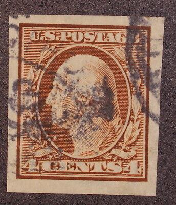 Scott 346 - 4 Cents Washington - Used - Imperf - Well Centered