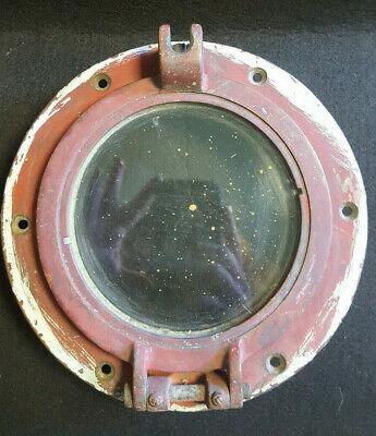 Vtg Salvaged Ship Port Hole Window Nautical Boat Porthole Decor Dark Red](Ship Porthole)