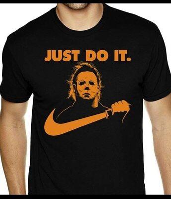 Halloween Movie T Shirts (Michael Myers Halloween Just Do It T-Shirt Funny Nike Parody Horror Movie)