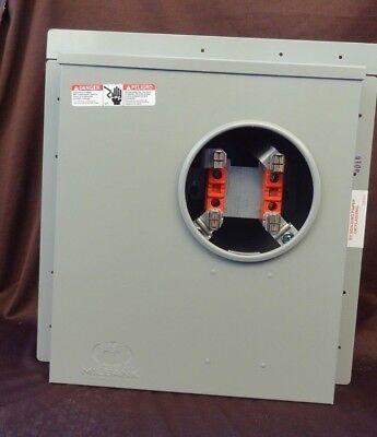 Uf4015-ko Milbank 200 Amp 4 Terminal 3 Knockout Max 600 Volts Meter Socket