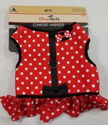 Disney Tails Minnie Mouse Polka Dot Costume Harness for Dogs Large L New ](Mouse Costume For Dog)