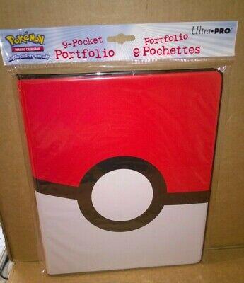 Pokemon Poke ball Pokeball 9 Pocket Page Portfolio Album Binder New