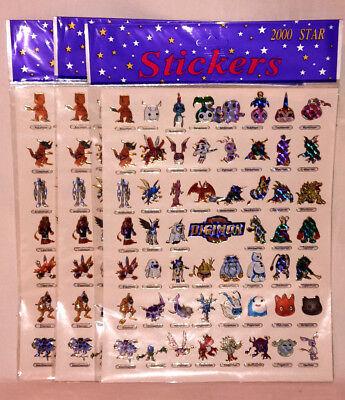 Digimon Stickers 3 Stickerbögen