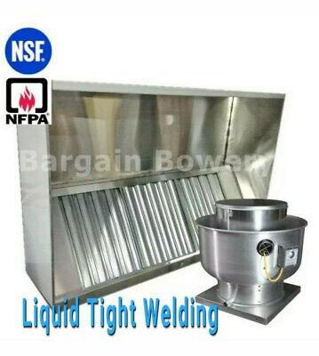 6 Ft 304 Ss Restaurant Commercial Kitchen Exhaust Hood Captiveaire Fan 1500 Cfm