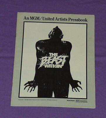 original THE BEAST WITHIN PRESSBOOK