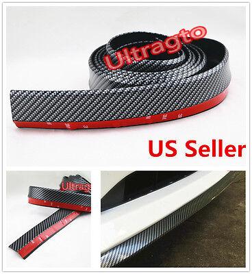 2 X98  Carbon Fiber Front Bumper Lip Splitter Body Spoiler Valence Chin Trim