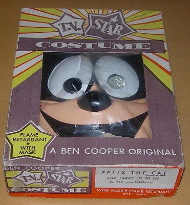 BEN COOPER  FELIX THE CAT  TV STAR COSTUME  C. 1960'S  BOXED  - Felix The Cat Halloween Costume