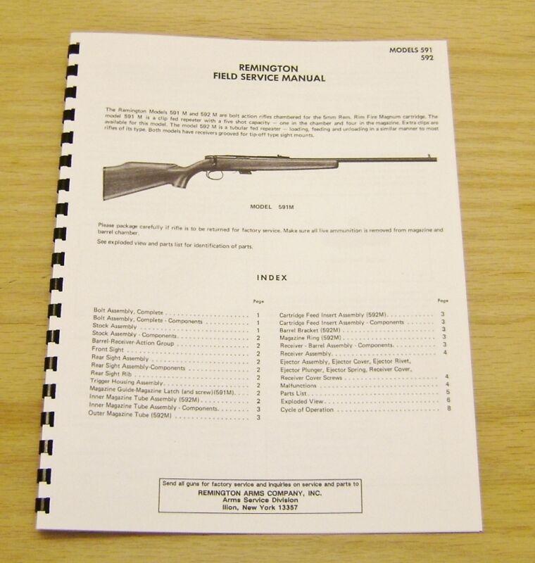 Remington Field Service Manual Models 591 & 592 - Gunsmith - #4