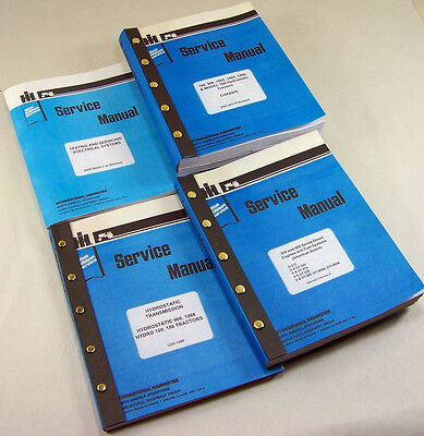 Lot International 966 1066 100 Hydro Tractor Service Repair Shop Manuals Engine