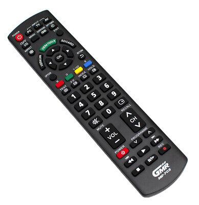 MANDO A DISTANCIA PARA PANASONIC TELEVISION 4K LED PLASMA LCD TV TELE...