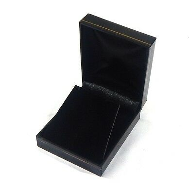 4 Large Earring Or Pendant Gift Boxes Black Classic Leatherette Jewelry Display