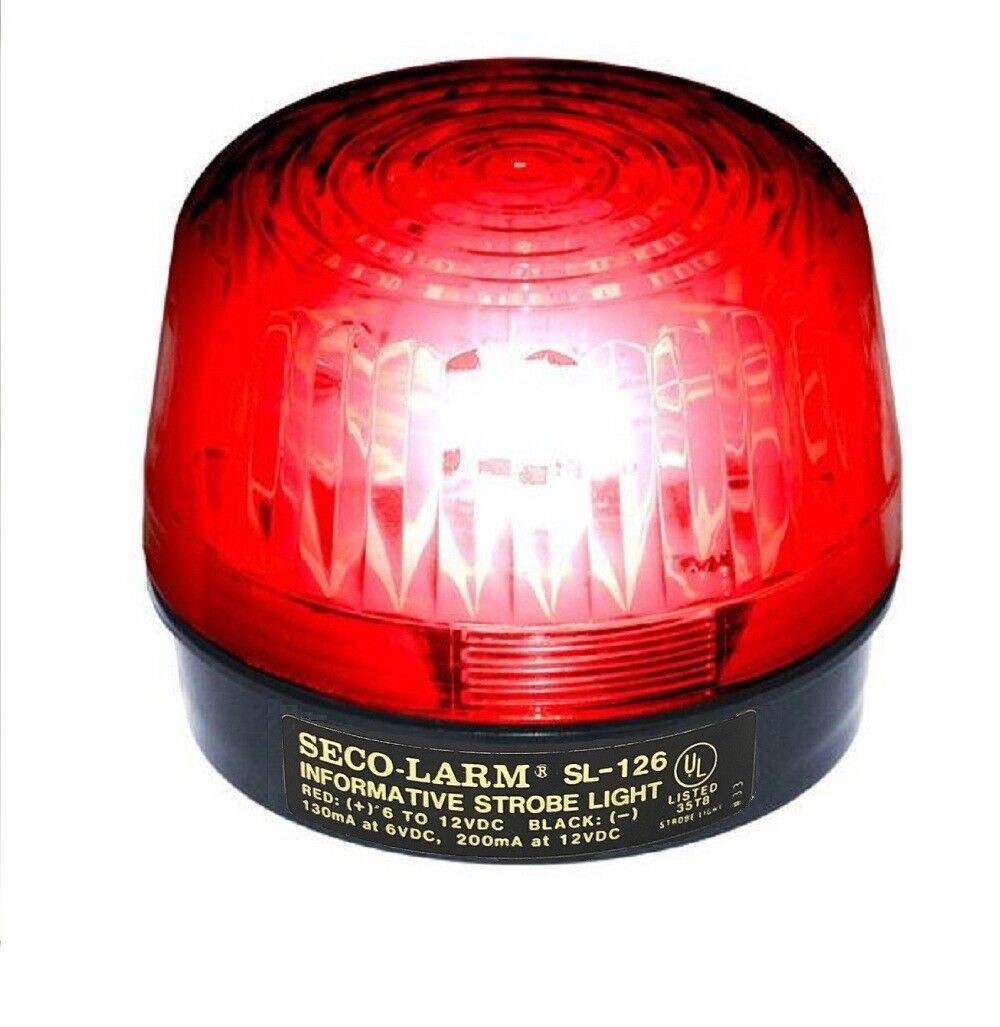 Seco-Larm SL-126 Enforcer Xenon Strobe Light 6VDC-12VDC - Re