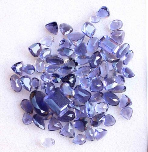 15.50 CT Natural Blue Iolite Gemstone Square Cut Wholesale Lot