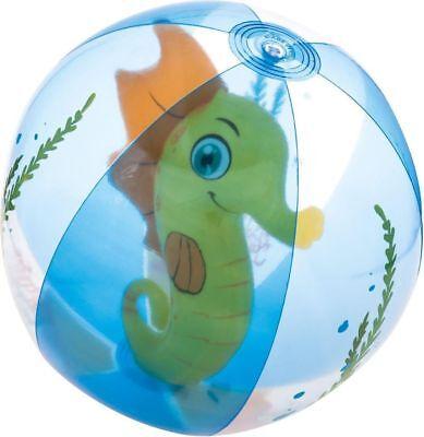 Beach Ball Blue Clear With Sea horse Beach Ball 20 in(51cm) Free Shipping Fun ](Clear Beach Balls)