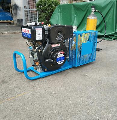 High Pressure Air Compressor Pump Hailin Diesel Engine 100lmin Air Cool 4500psi